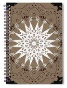 Coffee Flowers 9 Ornate Medallion Spiral Notebook