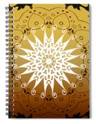 Coffee Flowers Medallion Calypso Triptych 3  Spiral Notebook