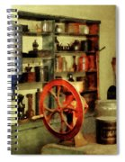 Coffee Grinder And Canister Of Sugar Spiral Notebook