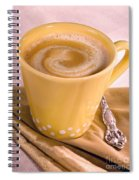 Coffee In Yellow Cup Spiral Notebook