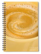 Coffee In Yellow Spiral Notebook