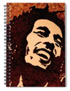 Coffee Painting Bob Marley Spiral Notebook