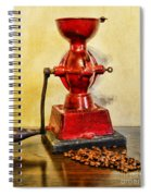 Coffee The Morning Grind Spiral Notebook