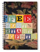 Coffee The Most Important Meal Of The Day Spiral Notebook