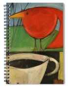coffee with red bird II Spiral Notebook