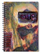Coin Of The Realm Encaustic Spiral Notebook