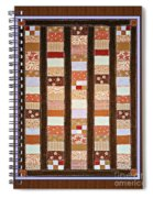 Coin Quilt -  Painting - Brown And White Patches Spiral Notebook