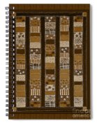 Coin Quilt - Painting - Sepia Patches Spiral Notebook
