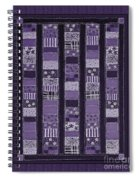 Coin Quilt -quilt Painting - Purple Patches Spiral Notebook