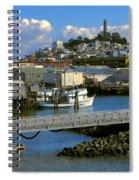 Coit Tower And Marina - San Francisco Spiral Notebook