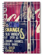 Coke And Gold Spiral Notebook