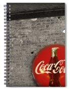 Coke Cola Sign Spiral Notebook