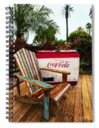 Vintage Coke Machine With Adirondack Chair Spiral Notebook