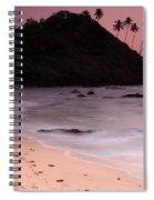 Cola Beach Sunset Spiral Notebook