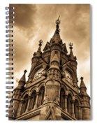 Colck Tower Stratford On Avon Sepia Spiral Notebook