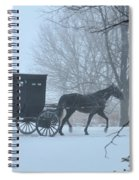 Cold Amish Morning Spiral Notebook