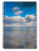 Cold And Windy Beach Day Spiral Notebook