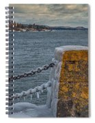 Cold Day On Superior Spiral Notebook