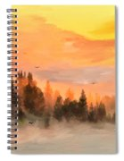Cold Foggy Spring Morning Spiral Notebook