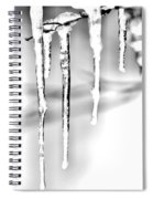 Cold Glistening  Icicles Spiral Notebook