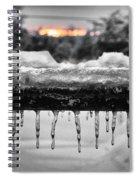 Cold Morning Light Spiral Notebook