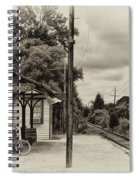 Cold Spring Train Station In Sepia Spiral Notebook