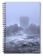Cold Tower Of Mist Spiral Notebook