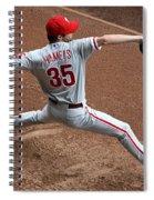 Cole Hamels - Pregame Warmup Spiral Notebook