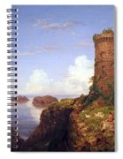 Cole's Italian Coast Scene With Ruined Tower Spiral Notebook