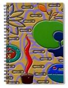 Collage 6 Spiral Notebook