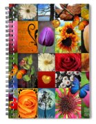 Collage Of Happiness  Spiral Notebook