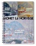 Collage Of Monet's Norwegian Works Spiral Notebook