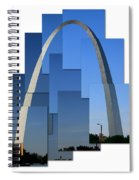 Collage Of St Louis Arch Spiral Notebook