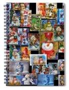 Collage Snowman Horz Photo Art Spiral Notebook