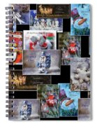 Collage Xmas Cards Horz Photo Art Spiral Notebook
