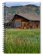 Collapsed Log House In Utah Spiral Notebook