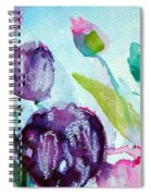 Collecting Pink And Purple Tulips Spiral Notebook