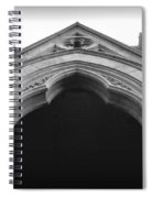 College Hall Entry - Black And White Spiral Notebook