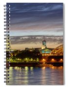 Cologne Cathedral With Rhine Riverside Spiral Notebook