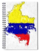 Colombia Painted Flag Map Spiral Notebook