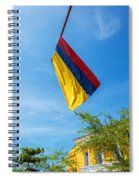 Colombian Flag And Blue Sky Spiral Notebook