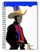 Colonel Tim Mccoy Unknown Film Card No Date  Spiral Notebook