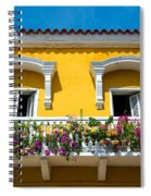 Colonial Balcony In Cartagena Spiral Notebook