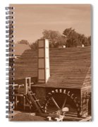 Colonial In Sepia Spiral Notebook