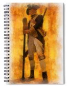 Colonial Soldier Photo Art  Spiral Notebook