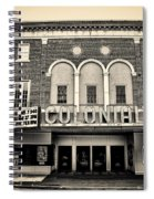 Colonial Theater In Phoenixville In Sepia Spiral Notebook