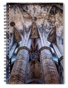 Colonnade And Stained Glass No1 Spiral Notebook