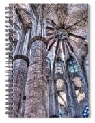 Colonnade And Stained Glass No2 Spiral Notebook