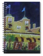 Colony Hotel At Night. Delray Beach Spiral Notebook