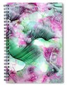 Color Abstract Red-green Spiral Notebook